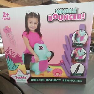 Waddle Friends Bouncer bounce on Sophia The Seahorse. inflatable with pump NEW