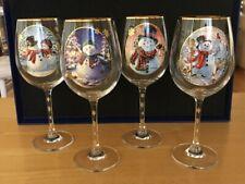 Bradford Exchange Dona Gelsinger Limited Edition Wine Glass Set