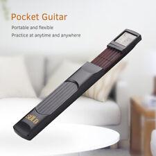 6 Frets Pocket Folk Guitar Portable Practice Trainer Tool 6 Strings Chord Gadget