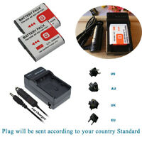 Battery / AC+DC Charger For Sony NP-BG1 FG1 G-Type Cyber-Shot W Series DSC-W120