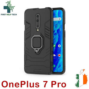 For OnePlus 7 Pro Cover Hybrid Case Rugged Shockproof Magnet Ring Holder Stand