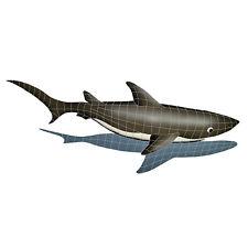 Shark with Shadow Ceramic Swimming Pool Mosaic
