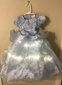 Pottery Barn Kids Light Up Disney Cinderella Play Costume ~ Size 4-6
