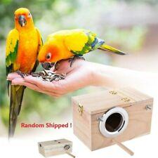 25cm Parakeet Budgie Cockatiel Nest Wood Breeding Box For Aviary Bird Lovebirds