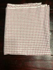 100% Cotton Woven Plaid Fabric Red White Light Weight New