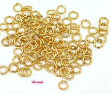 100 x 5mm OPEN JUMP RINGS GOLD PLATED STRONG .9mm Gauge