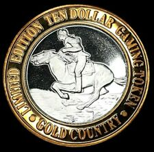 GOLD COUNTRY $10 LIMITED EDITION .999 FINE SILVER STRIKE - HORSE RIDING