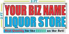 CUSTOM NAME LIQUOR STORE Banner Sign NEW Larger Size Best Quality for the $$$
