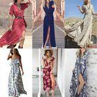 Sexy Femme boho robe longue femme été plage fête robe soleil Party Beach Dresses