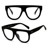 Oversized Shadow Flat Top Half Round Women  Designer Sunglasses