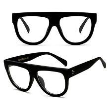 Vintage Shadow Designer Flat Top Aviator Oversized Women Gradient Sunglasses