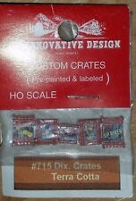 HO scale JL Innovative design Custom Made Crates Dix. Terra Cotta  #715 NIP