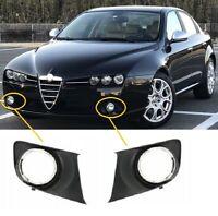 Alfa Romeo 159 2006-2011 Front Bumper Fog Grille & Chrome Frame Pair Left & Righ