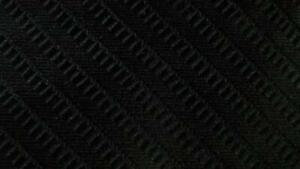 MICHAEL KORS BLACK BEAUTIFUL STRIPE SILK NECKTIE TIE MNO1419A #V38