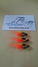 "3x 3/4"" Ghillie Copper Tube Salmon Fishing Fly FREE POSTAGE"