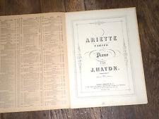 ariette variée pour piano de Haydn 1914 partition
