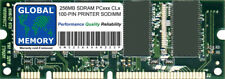 Impresora 256MB SDRAM 100-PIN Sodimm RAM (HP-256MB-PC100-100P, MD-256, 16H0730)