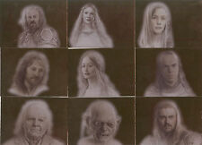 "Lord of the Rings Masterpieces II - ""Bronze Parallel"" Set of 9 Chase Cards #1-9"