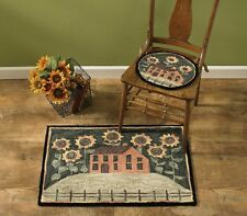 "House and Sunflowers Hand-Hooked Rug by Park Designs - 24"" x 36"""