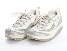 Skechers Shape-Ups Scarpe 8 IN Bianco Blu Pelle Nylon 11803 Wslb
