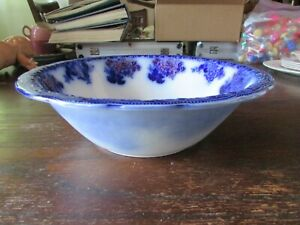 Flow Blue  Bowl with Gold 10 x 4  inches
