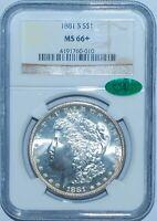 1881 S NGC MS66+ CAC Morgan Silver Dollar