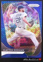 Clayton Kershaw 2020 Panini Prizm Blue Mojo SP #128/175 Los Angeles Dodgers #43