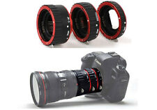 New RED Metal Mount Auto Focus AF Macro Extension Tube Set for Canon DSLR Camera