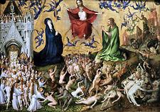 Stefan Lochner  Last Judgement  1435 Amazing   Wall Art  Canvas