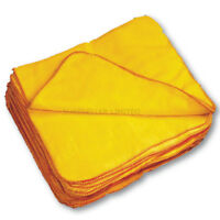 15 X 100% SOFT COTTON YELLOW DUSTERS POLISHING CLEANING DUST CLOTH TOWELS