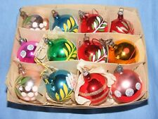 Vintage Glass Christmas Tree Decoration Ornament Baubles Selection Hand painted