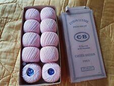 10 Pelotes bobines de coton lustré pour tricot rose saumon Cartier Bresson