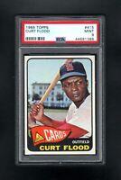 1965 TOPPS #415 CURT FLOOD ST LOUIS CARDINALS PSA 9 MINT++CENTERED!