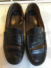 BLACK BASS LOAFERS, SIZE UK 9 1/2