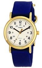"""Timex T2P475, Women's """"Weekender"""" Blue Fabric Watch, Indiglo, T2P4759J"""