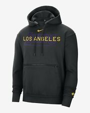 New Nike NBA Los Angeles Lakers Courtside Pullover Hoodie Large #CN0622-010
