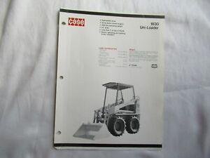 Case 1830 uni-loader specification sheet brochure