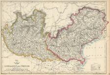 'LOMBARDY & VENICE' Austrian Kingdom of Lombardy-Venetia. Italy. DOWER 1863 map