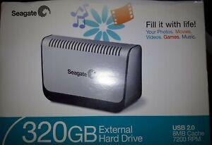 Seagate Barracuda 320Gb External Hard Drive USB 2.0, 8MB Cache ,7200RPM