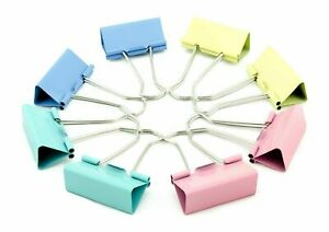 Bulldog Foldback 51,41 32,25. 19,15mm Size Metal Binder  Clips Assorted Colour