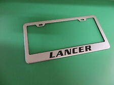 "(1pc)"" LANCER "" Stainless Steel license plate frame"