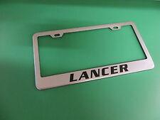 "(1pc)"" LANCER "" Stainless Steel license plate frame"