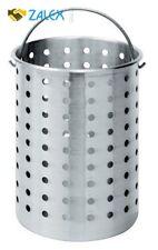 30 QT Pot Turkey Deep Fryer Aluminum Basket Steamer Boiler Boil Cook Fry Large