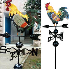 More details for metal weather vane rooster ornament garden patio roof wind direction weathervane