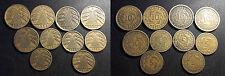 Allemagne - république de Weimar - lot de x10 monnaies !