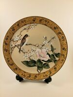 """FINE Quality China Decorative plate 10"""" Plate MADE IN Japan Bird pink flowers"""