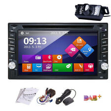 "6.2"" Touch Screen 2DIN In Dash GPS Nav Car DVD Player BT Auto Stereo Radio+CAM"