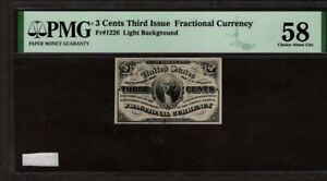 3 Cents Third Issue Fractional Note, Fr1226, PMG 58