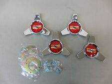 1958 CHEVY IMPALA BELAIR HUBCAP CHROME SPINNERS EMBLEMS HARDWARE WHEEL ACCESSORY