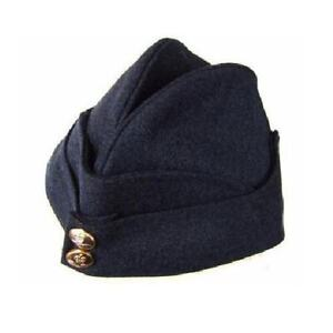 RAF Style side cap chip hat Royal Air Force  ~ Modern Queens crown style buttons